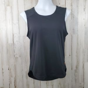 Lucy Womens Athletic Tank Top S Black Hi Low